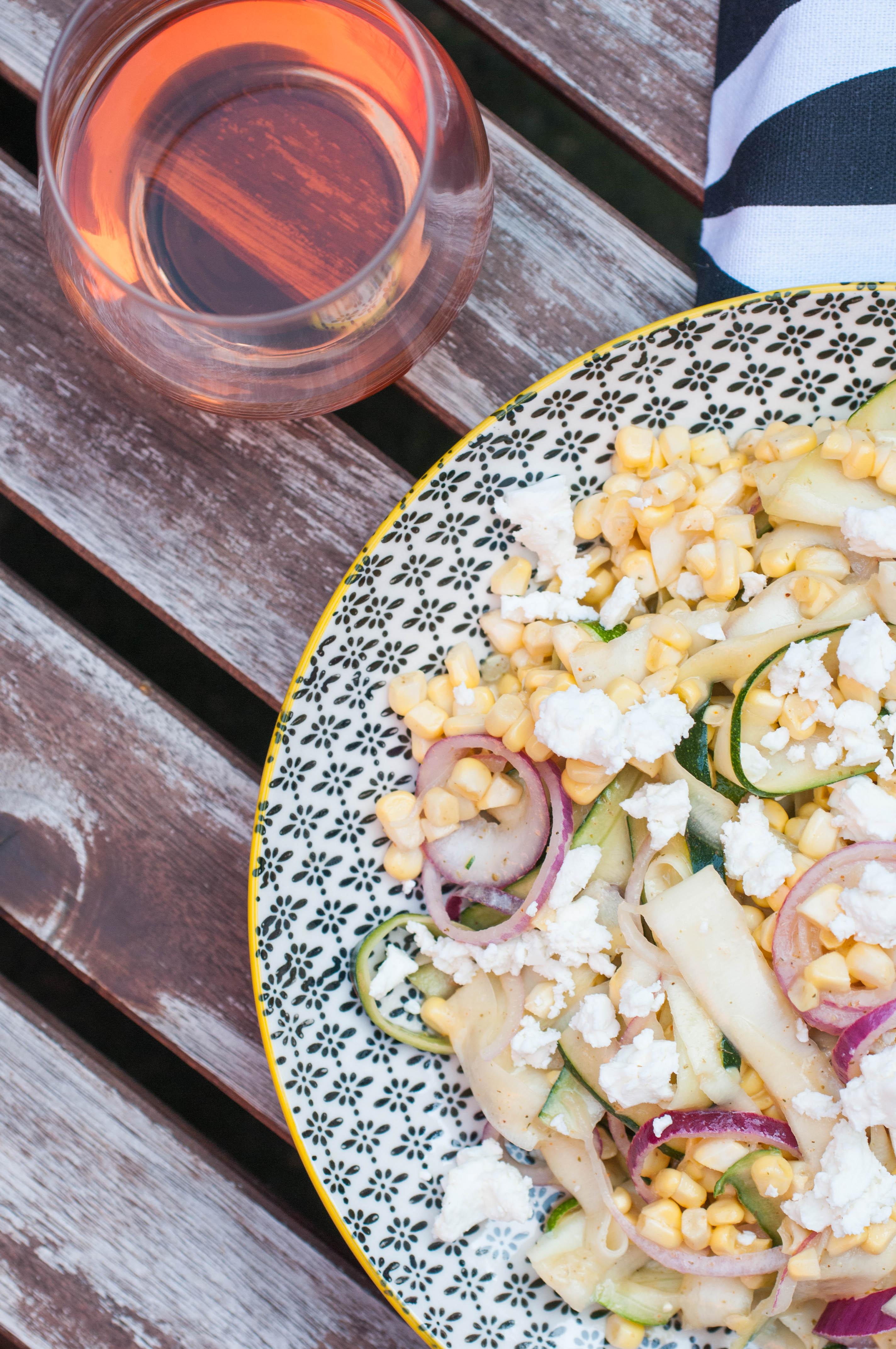 Zucchini Mais Salat
