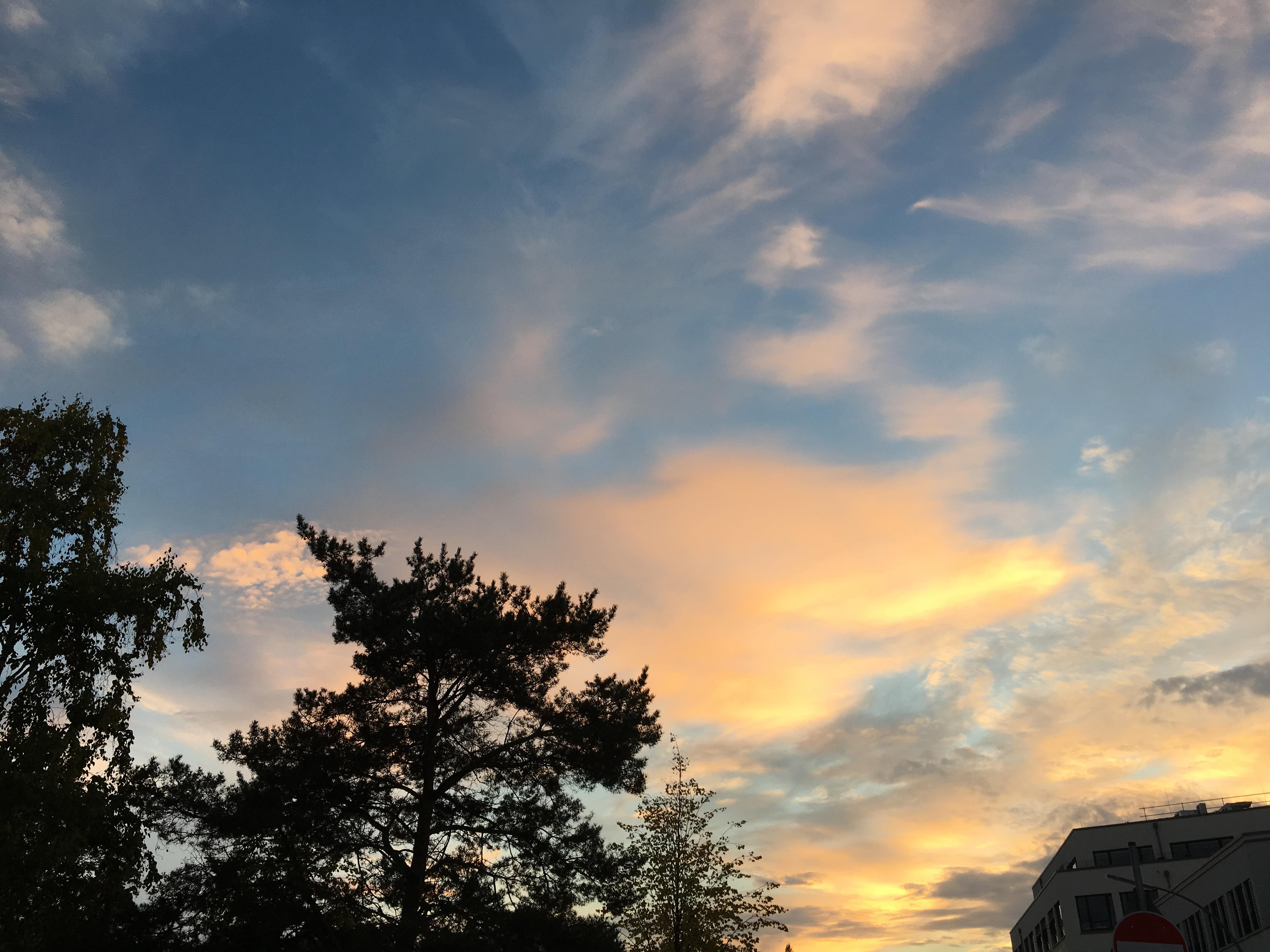 Abendhimmel im september