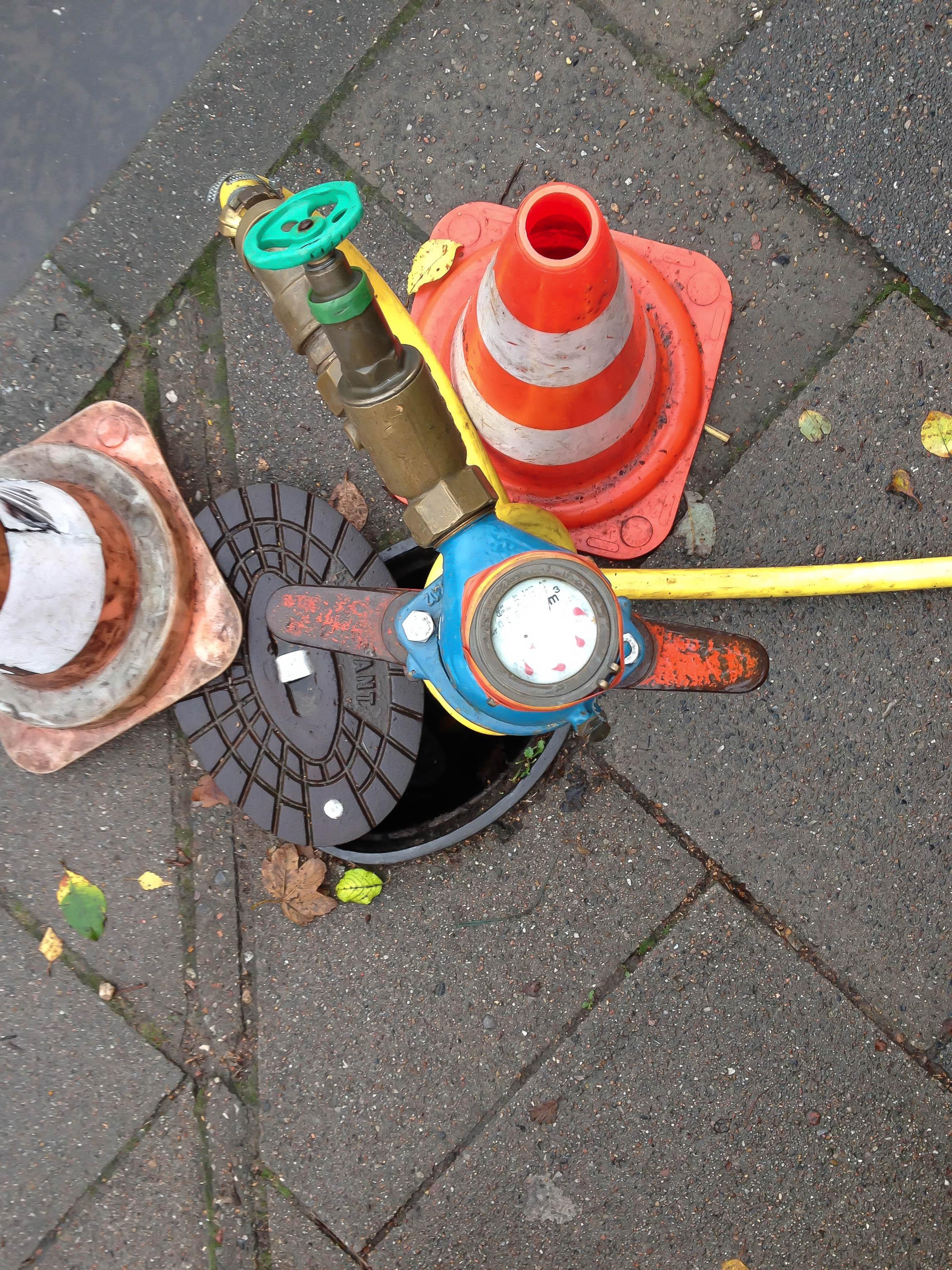 mobiler Wasseranschluss auf der Straße