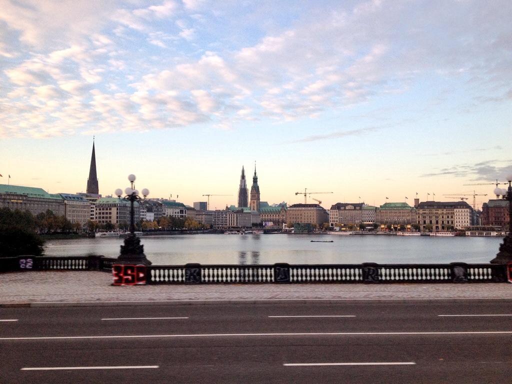 Herbstmorgen Binnenalster Hamburg