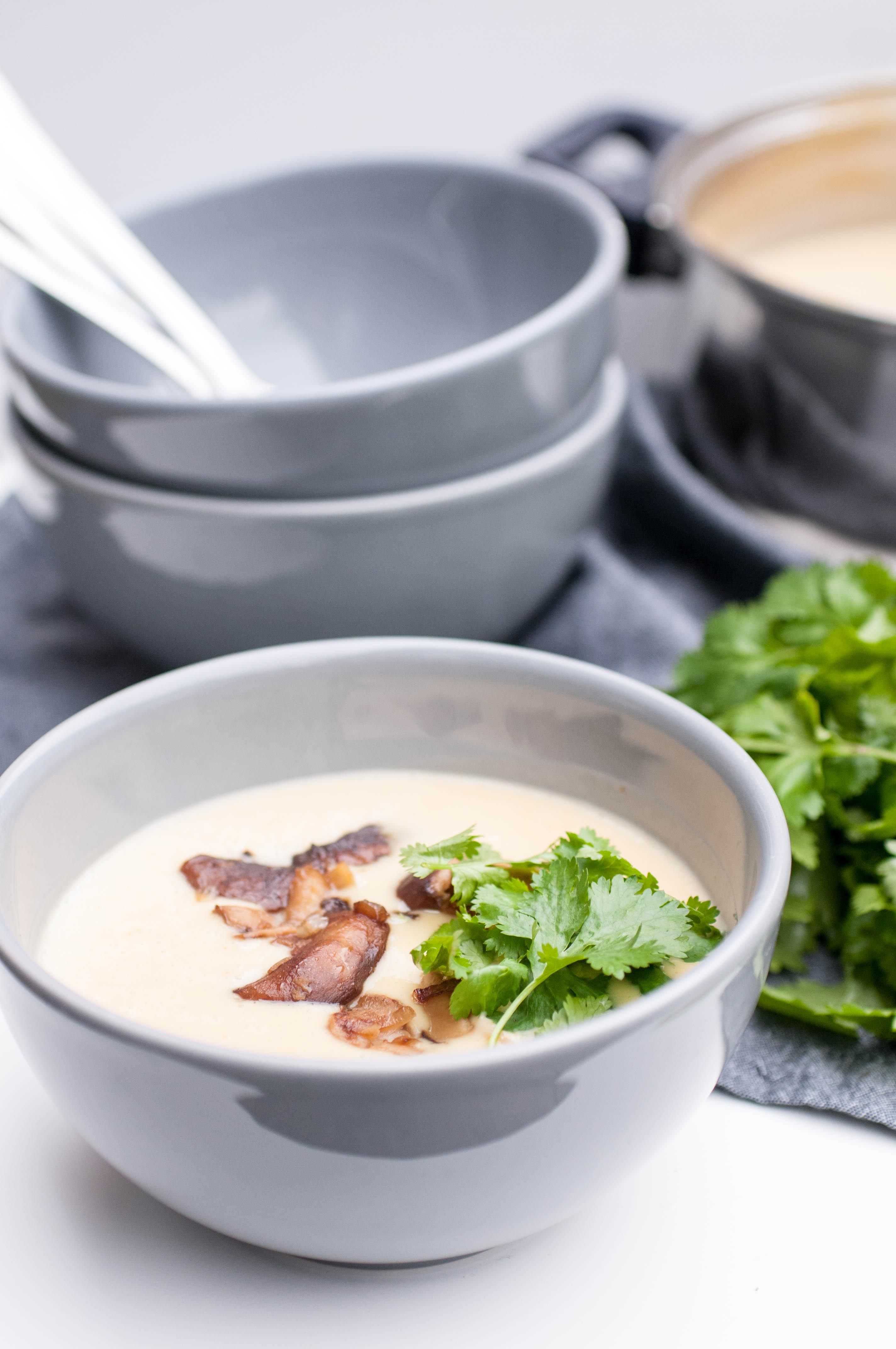 asiatische Kartoffelsuppe mit Shiitake Pilzen vegan