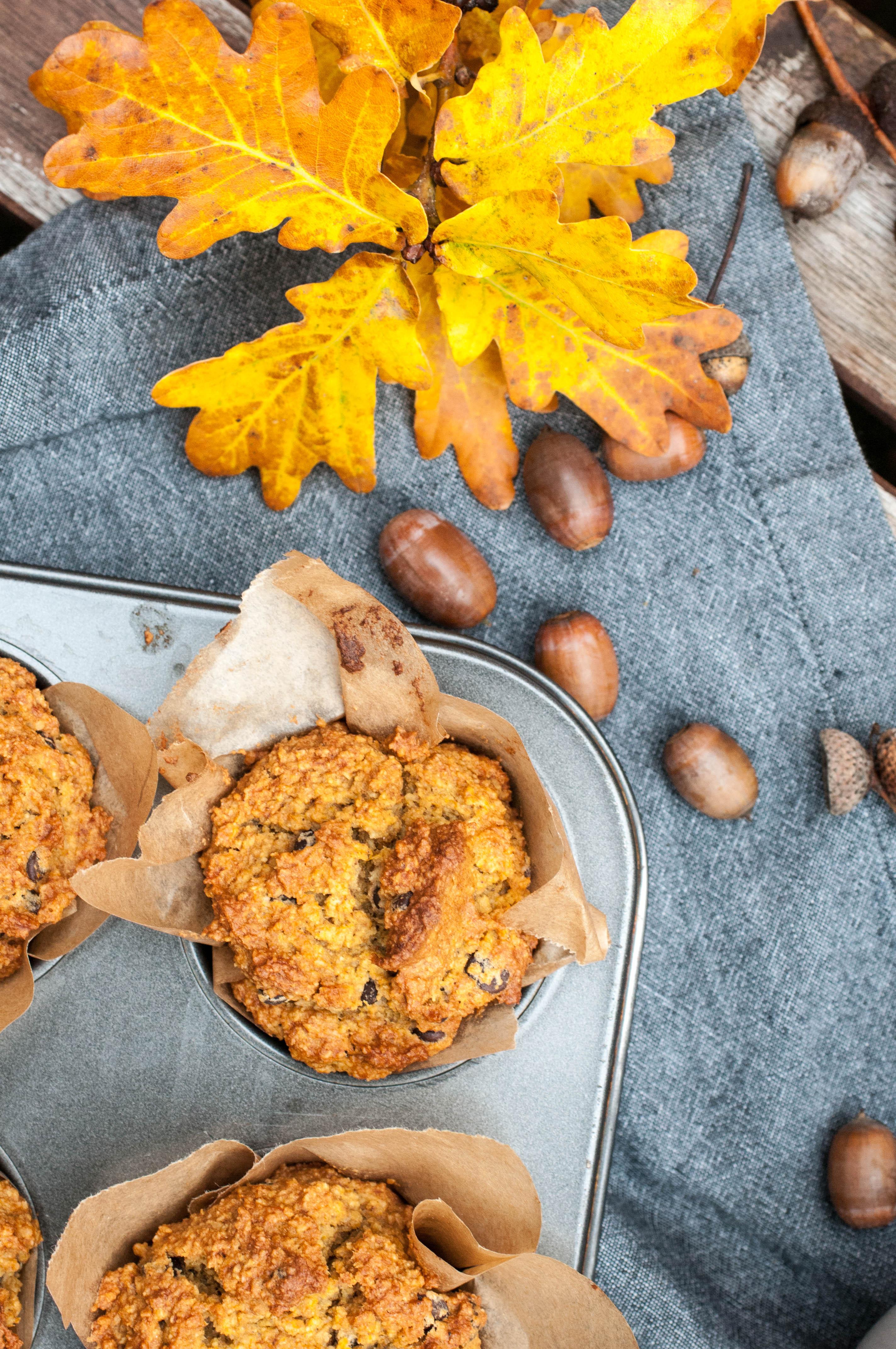 gluten free pumpkin spiced muffin