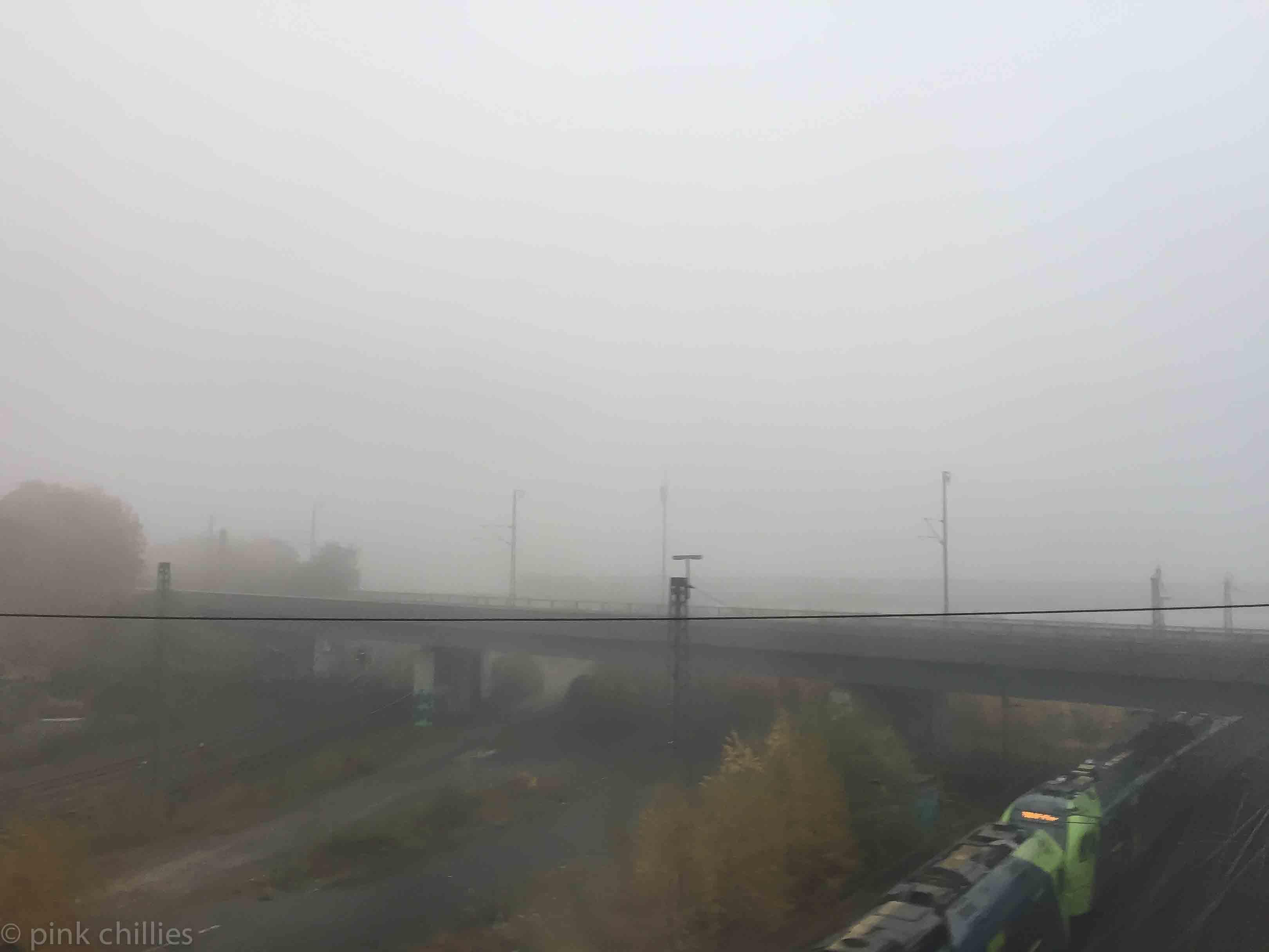 Nebel Schienen