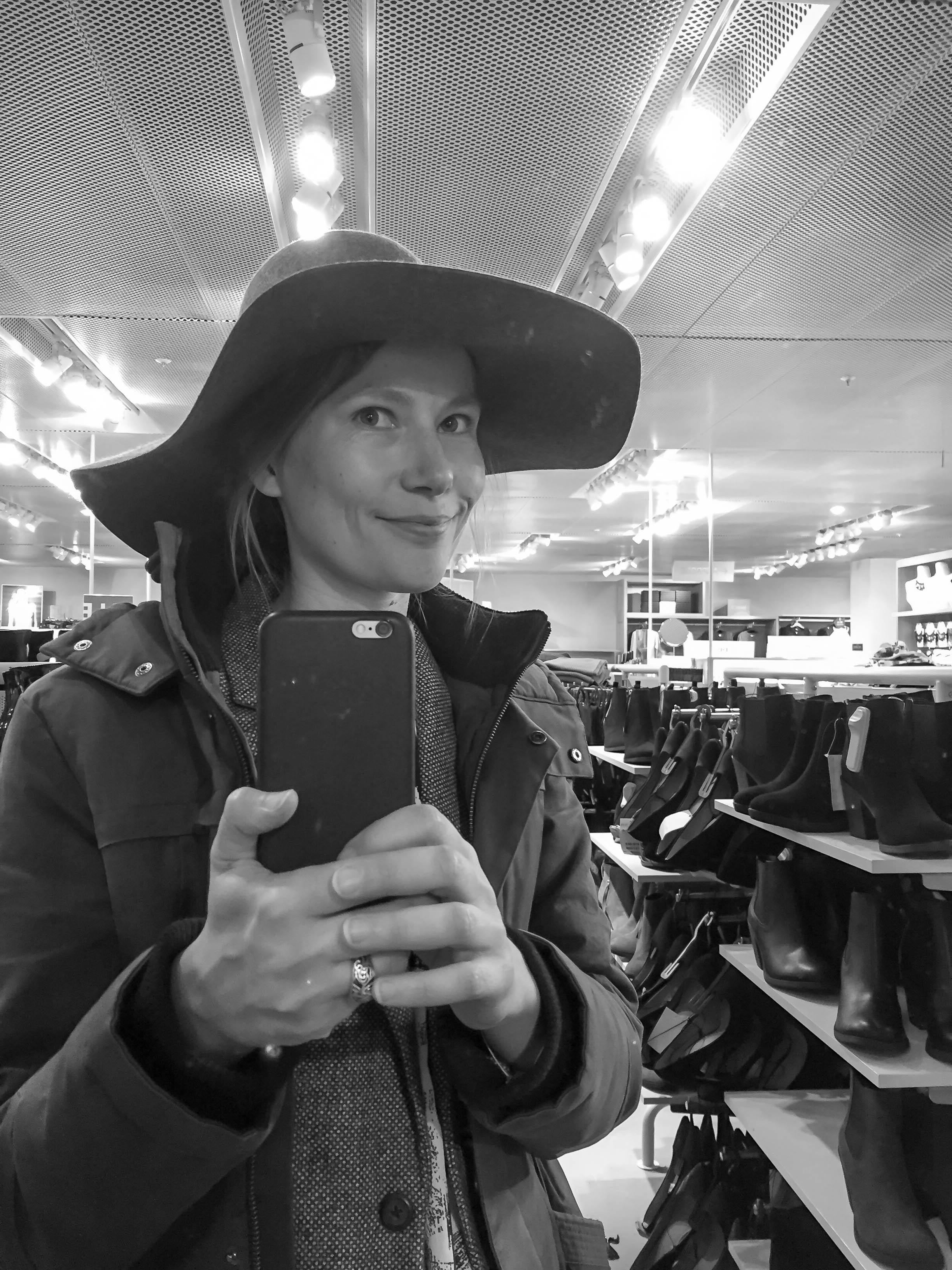 Selfie mit Hut