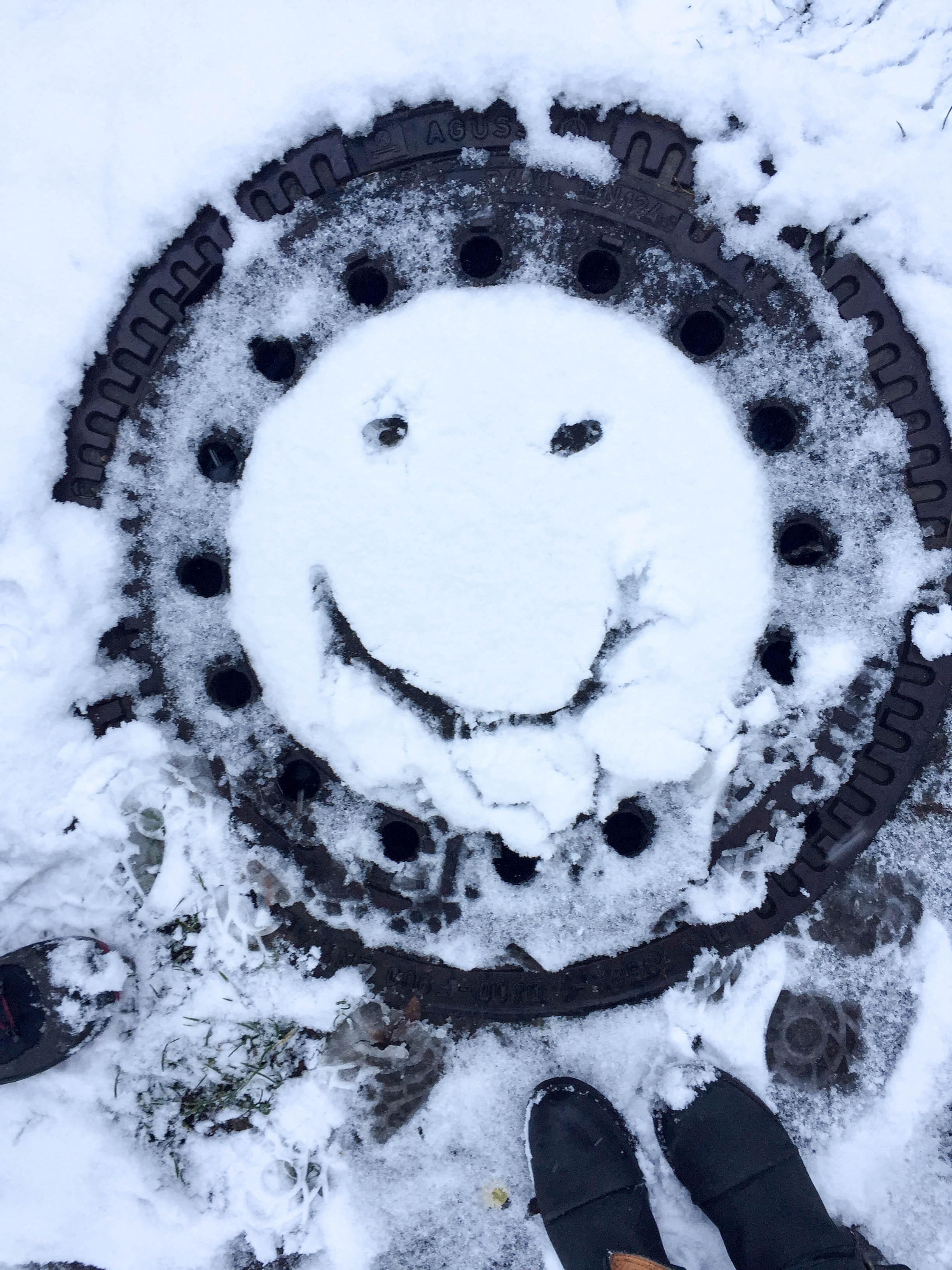 Smiley im Schnee