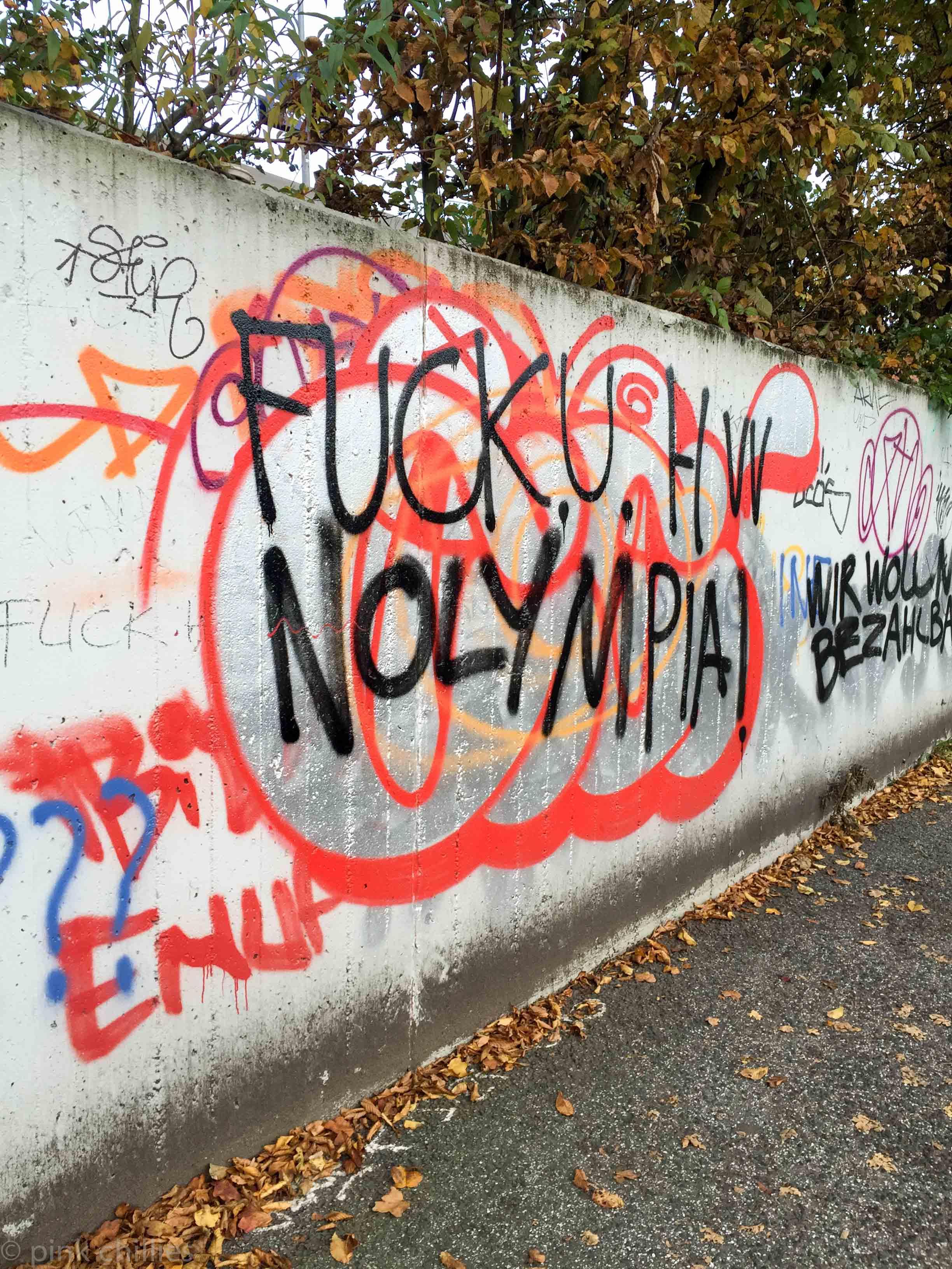 beschmutzte Wand