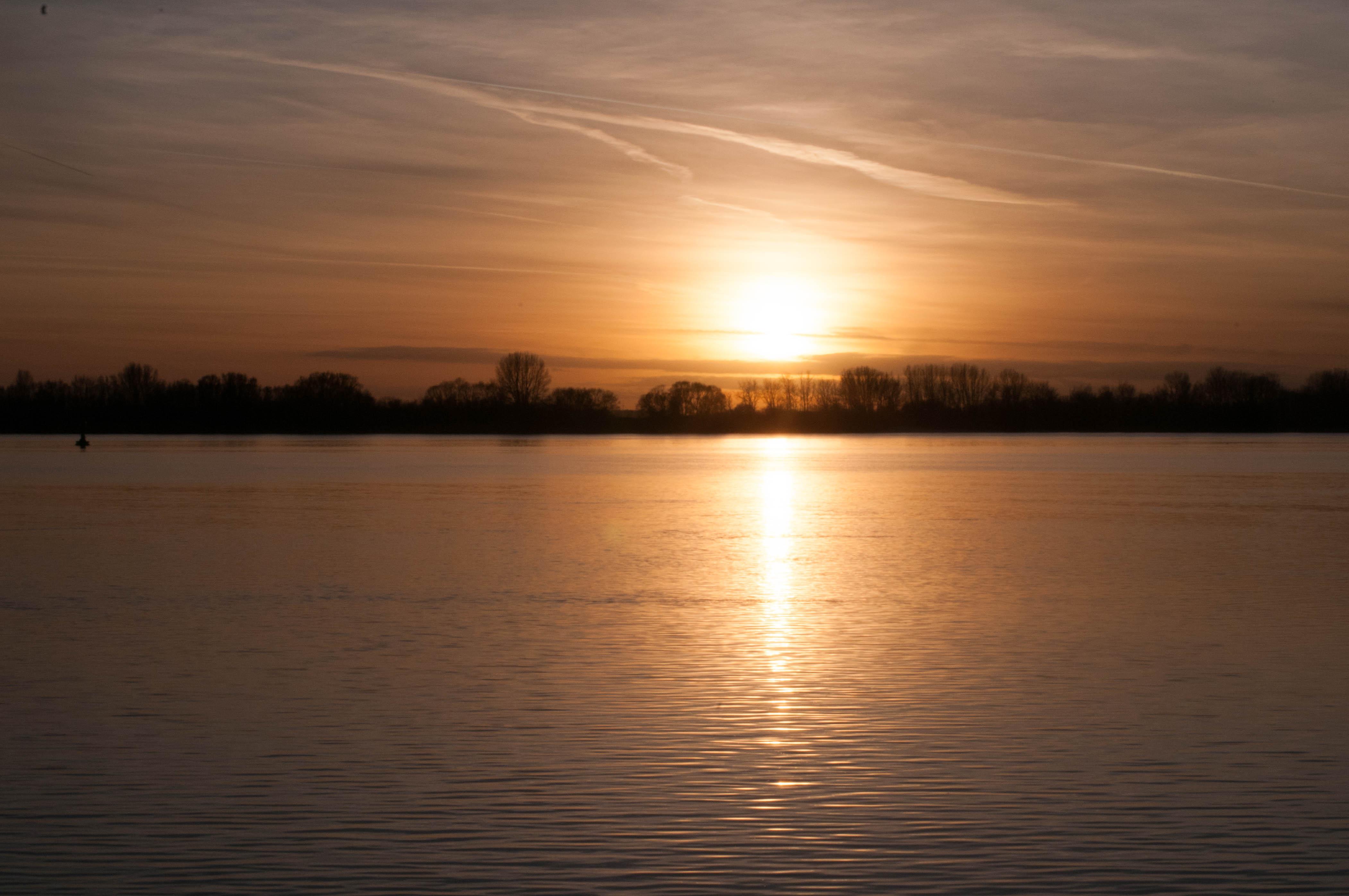 Sonnenuntergang bei Wittenbergen