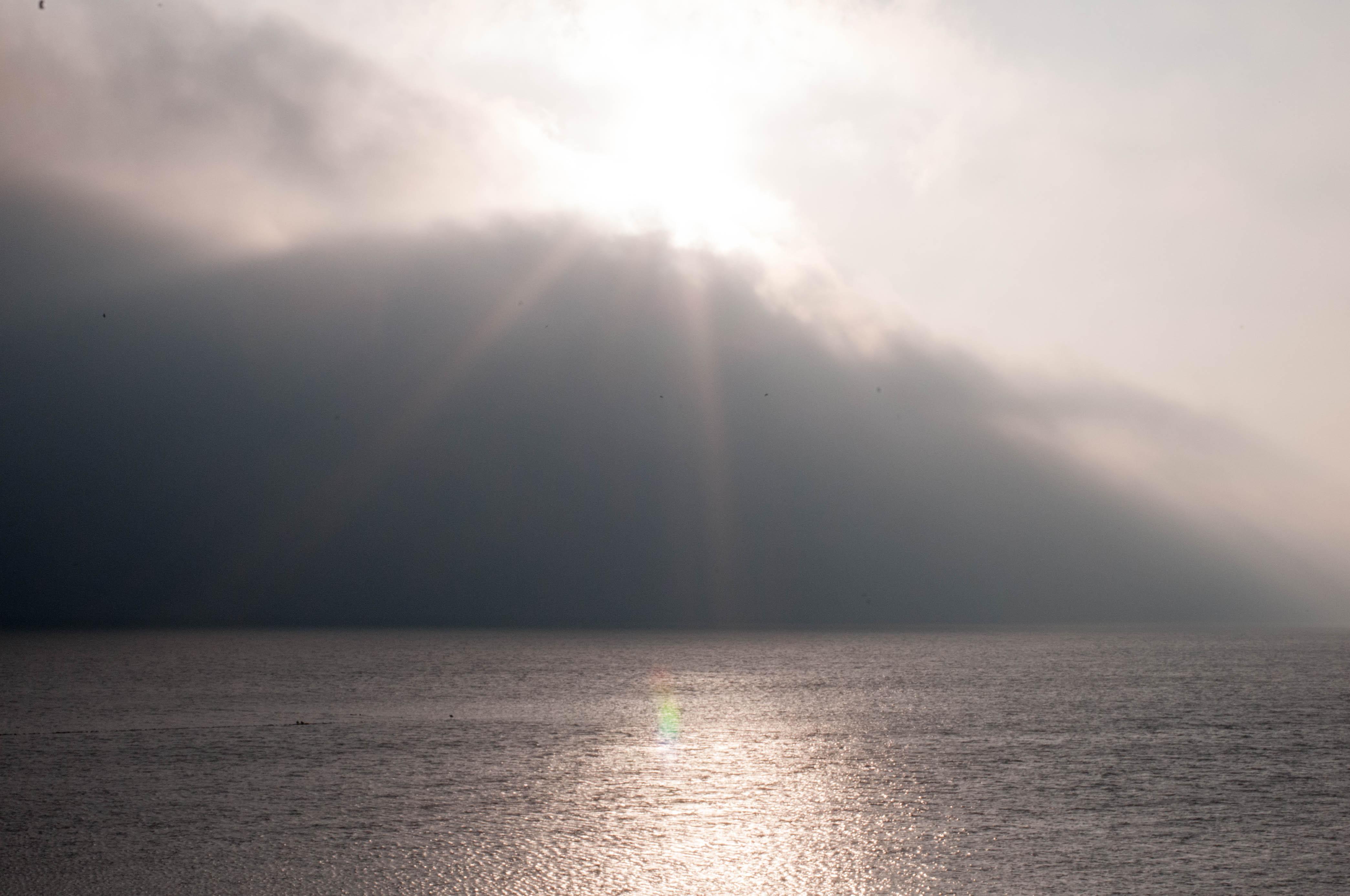 Nordsee im Wolkenbruch