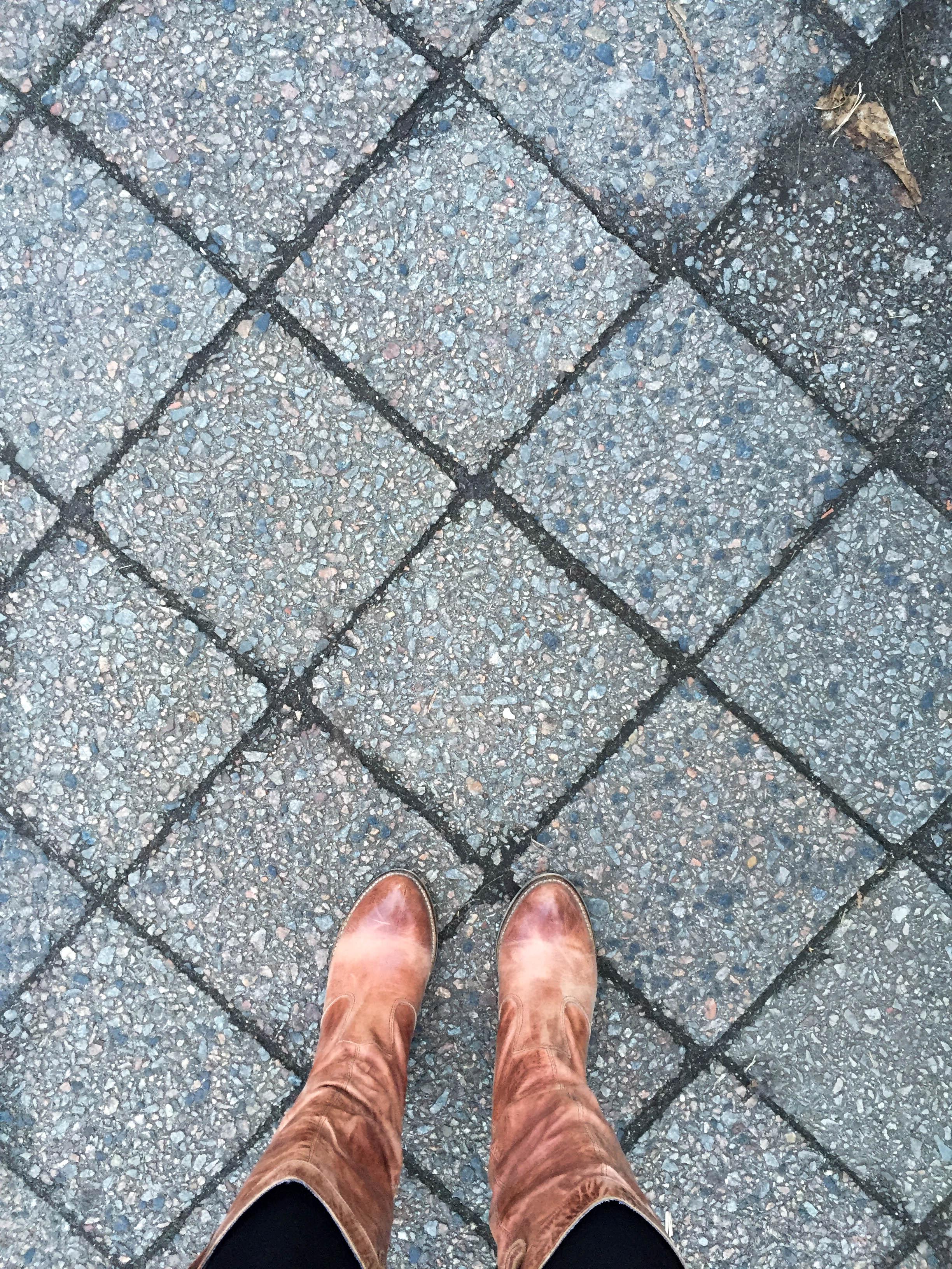 Fußweg Fliesen aus der Jahrhundertwende
