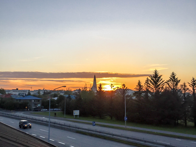 Sonnenuntergang Reykjavik