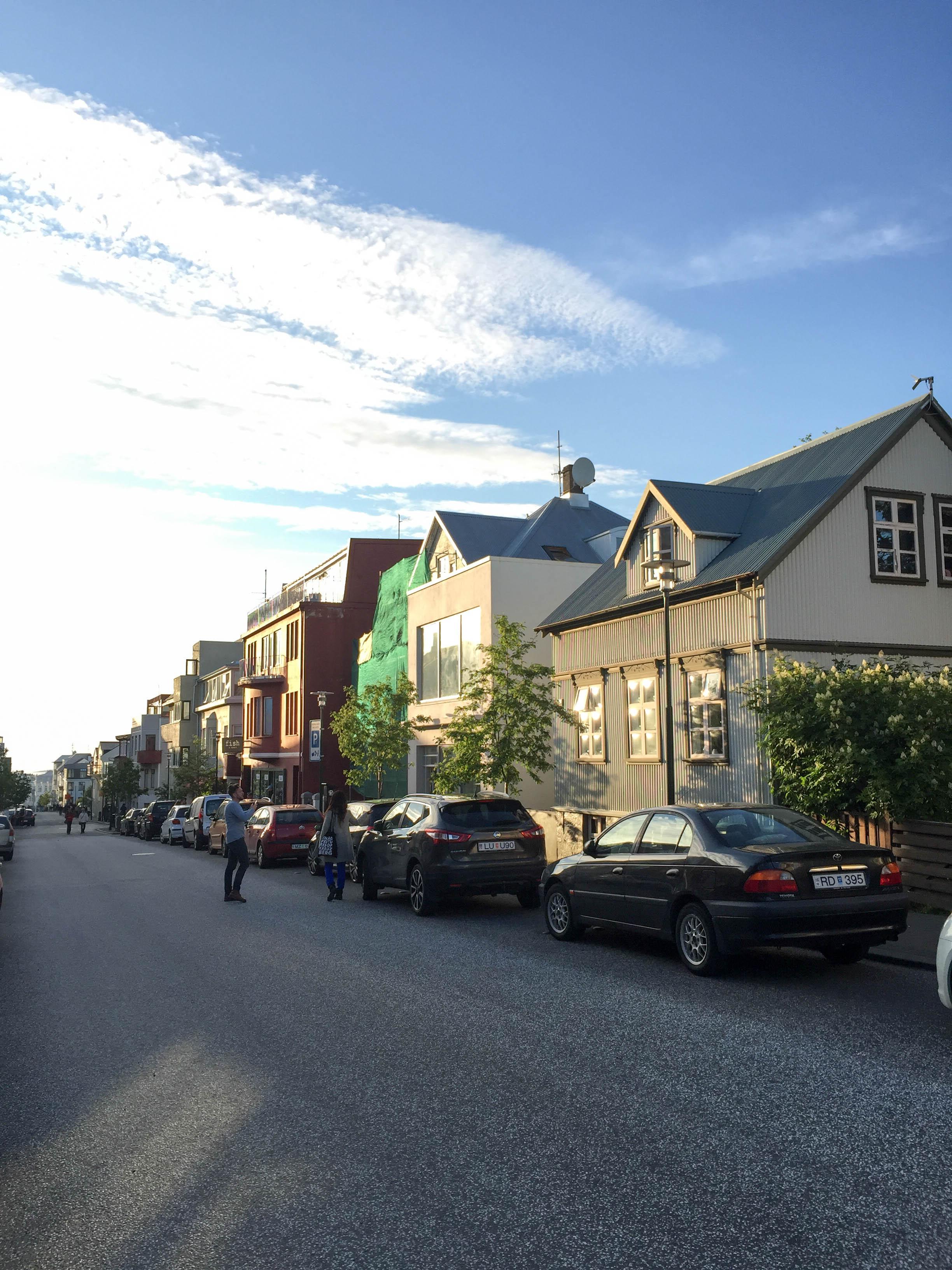 Straßenzug in Reykjavik