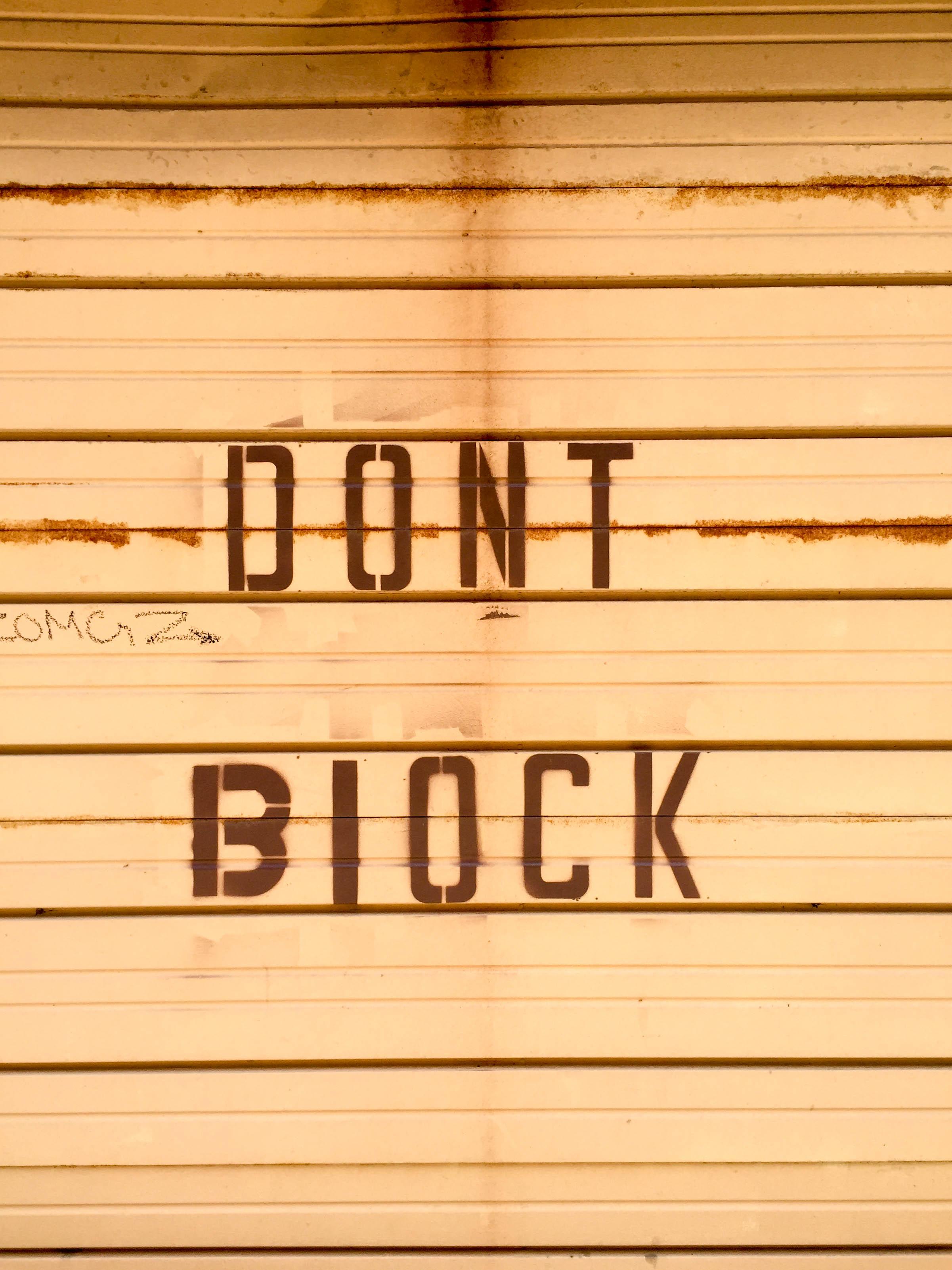 dont block