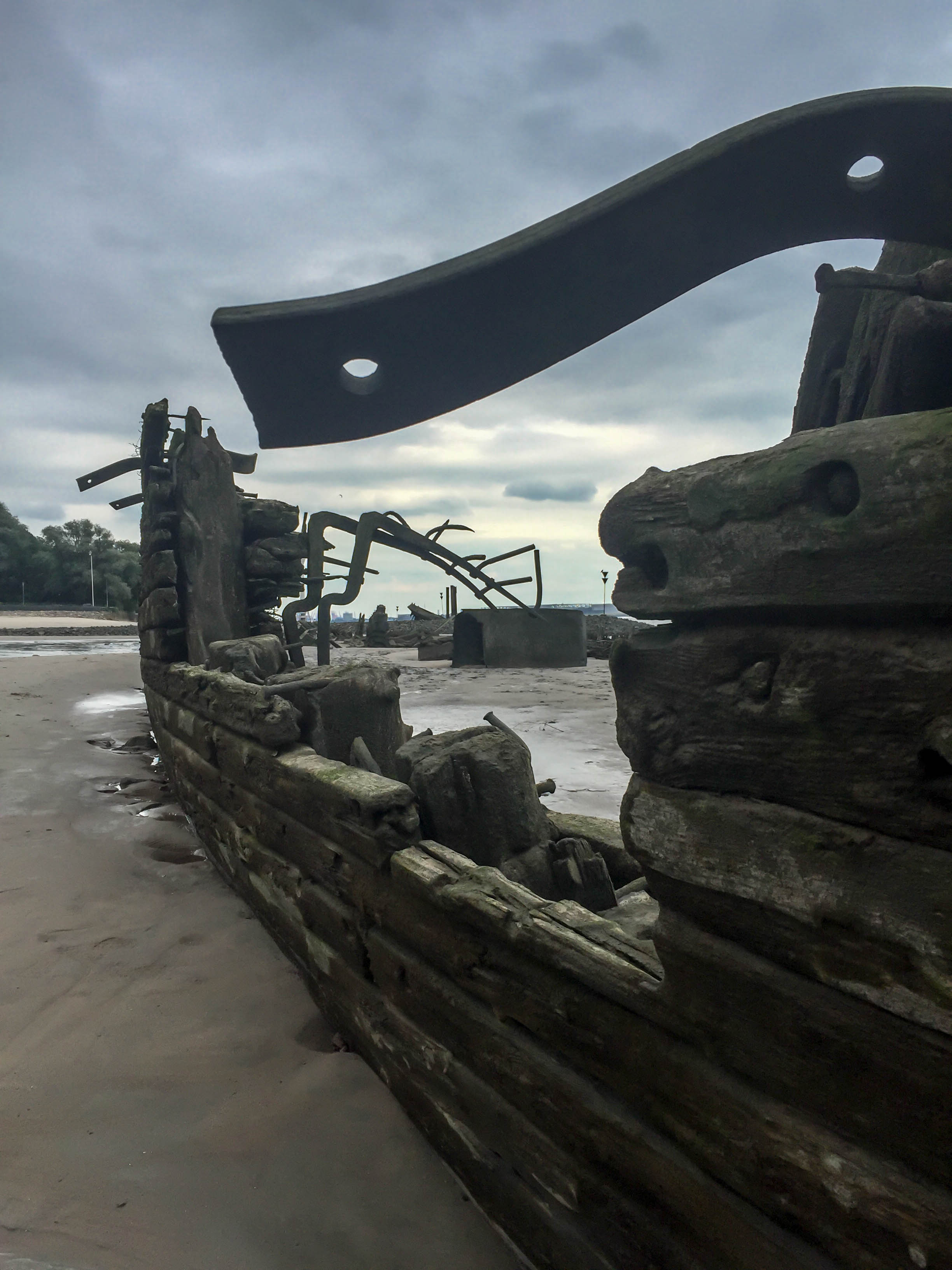 zerfallenes Schiffswrack