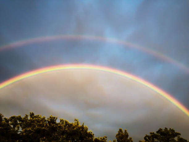 doppelter Regenbogen Sommerabend