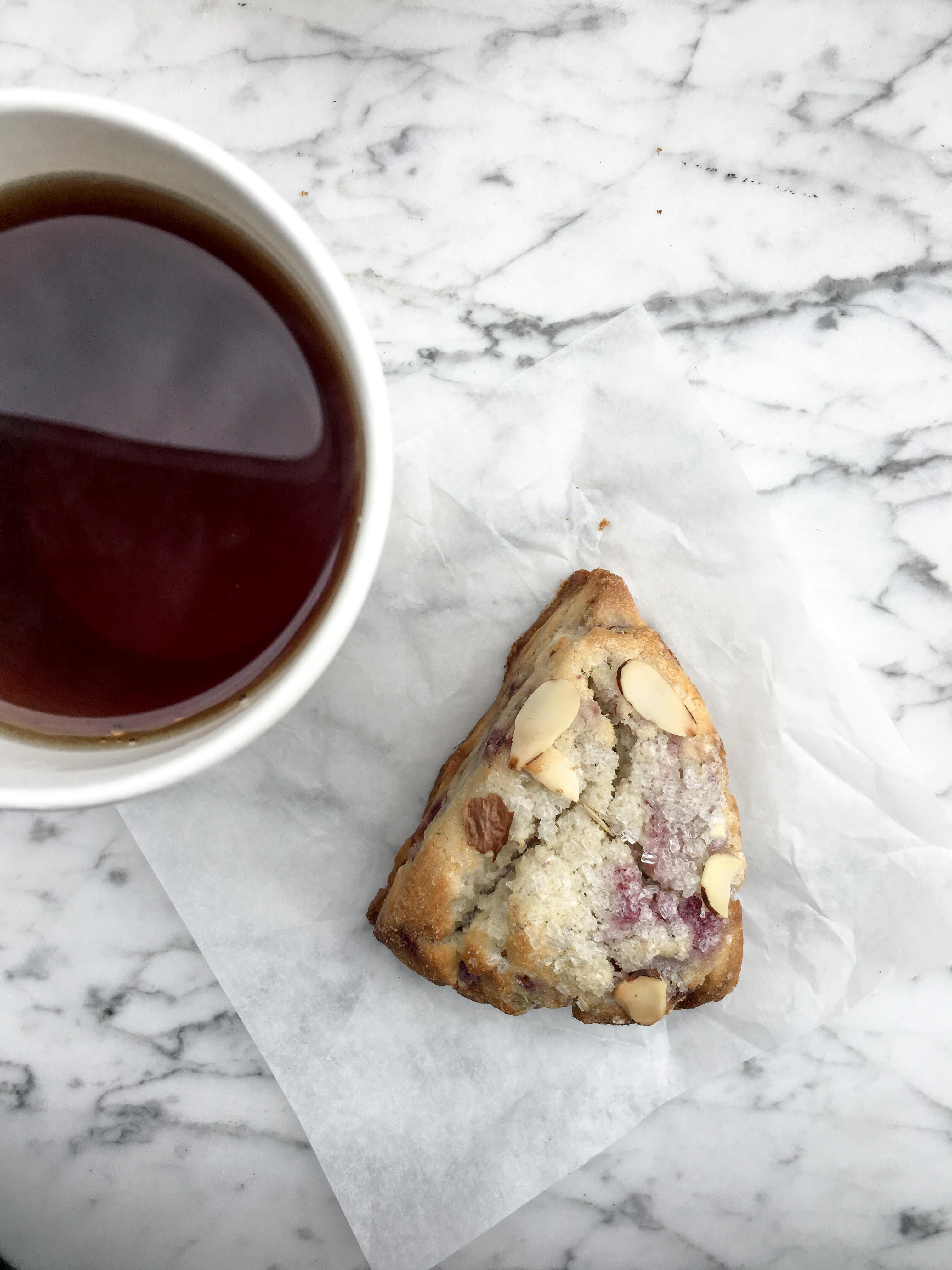 Raspberry Scone and Tea