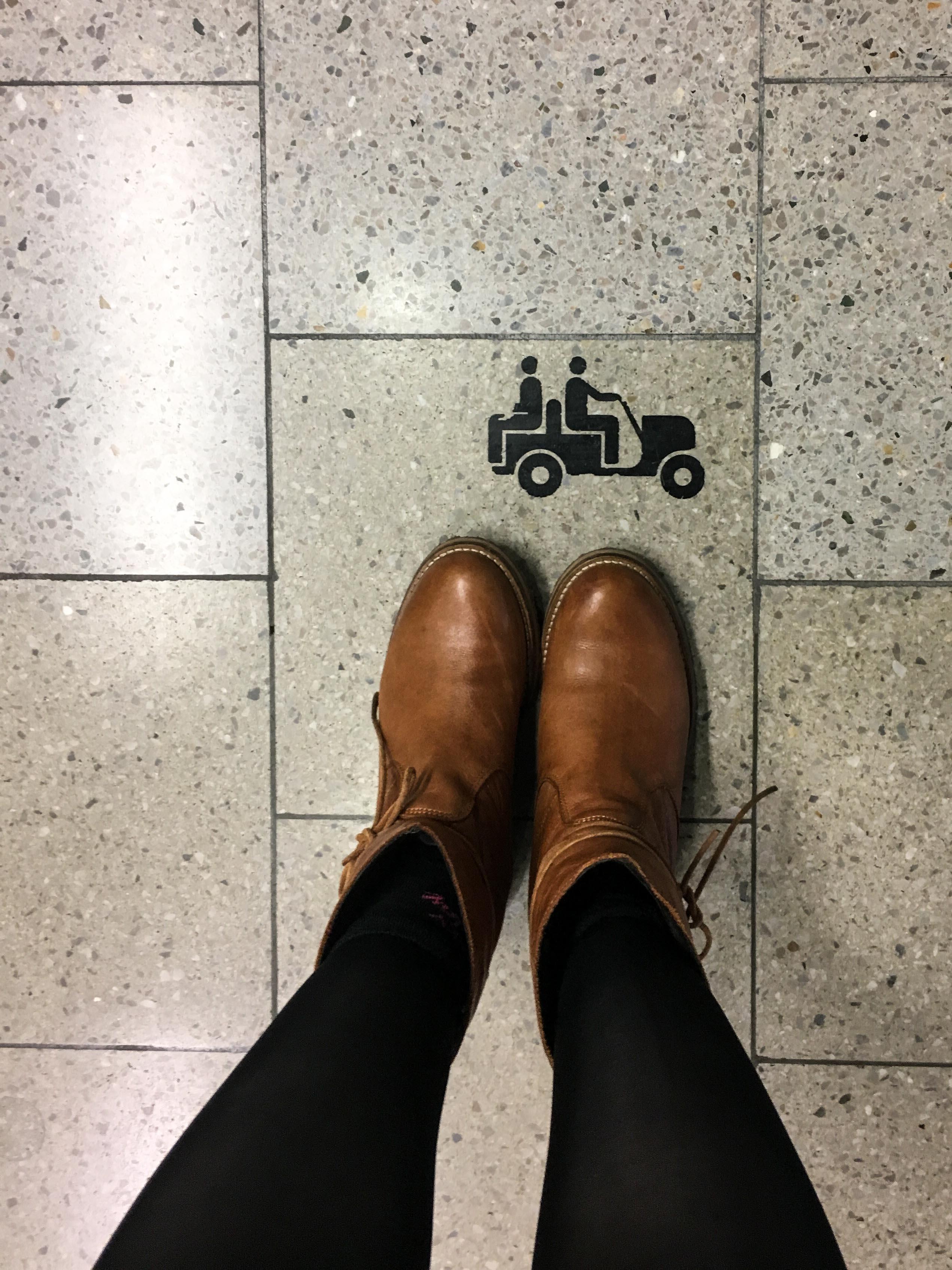 Piktogram am Zürcher Flughafen