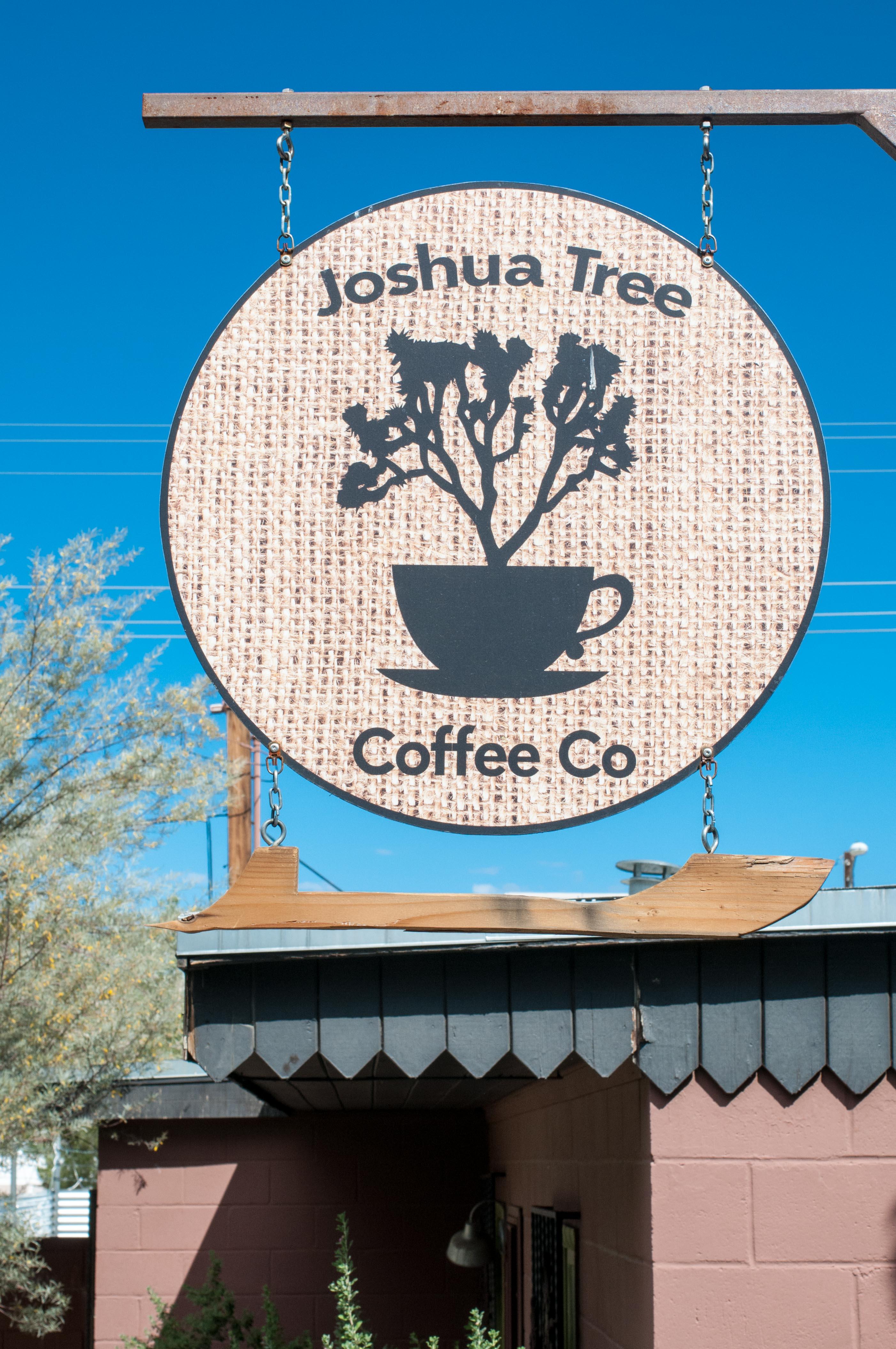 Joshua tree coffee co sign