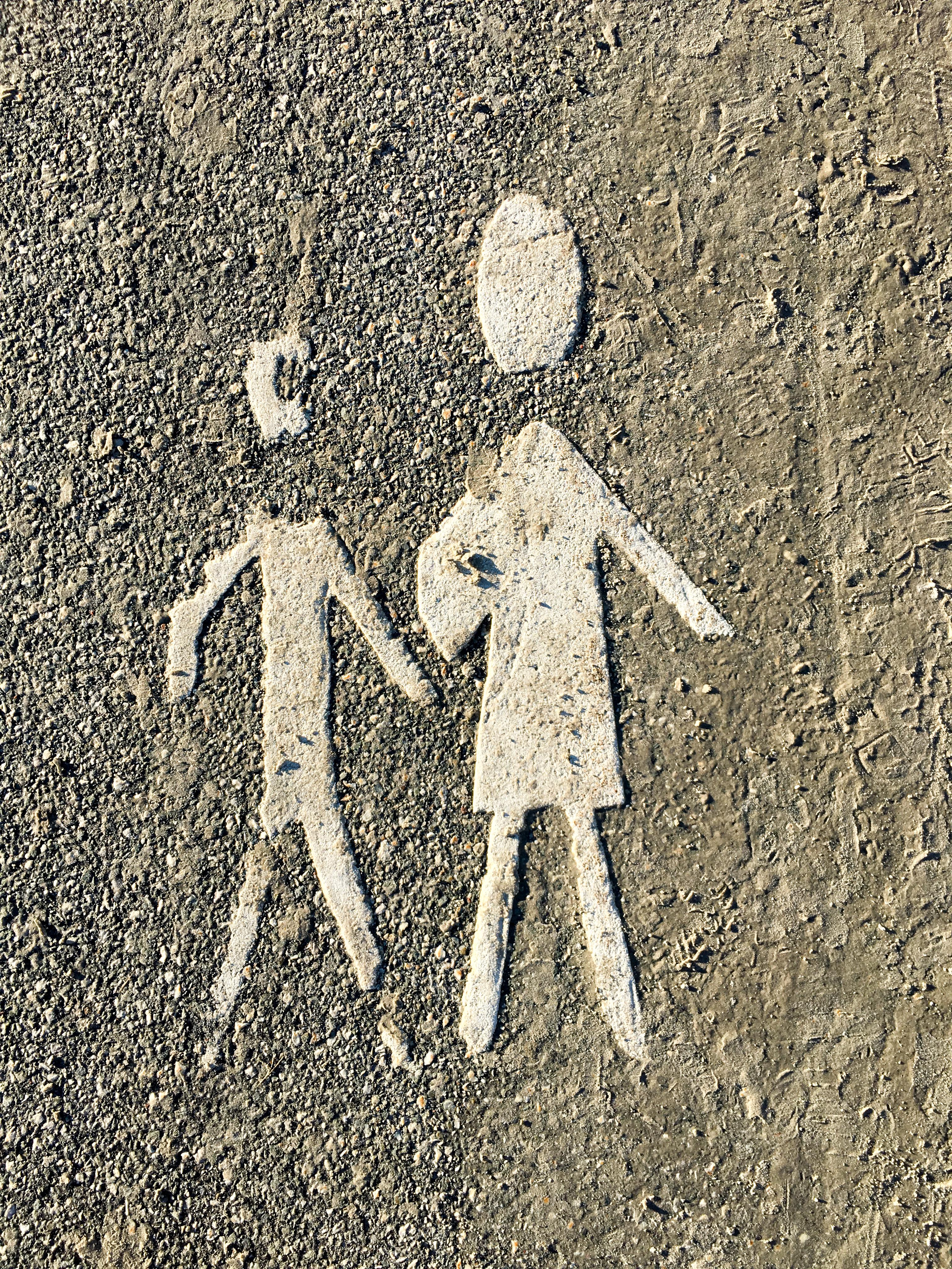 Piktogramm auf Straße