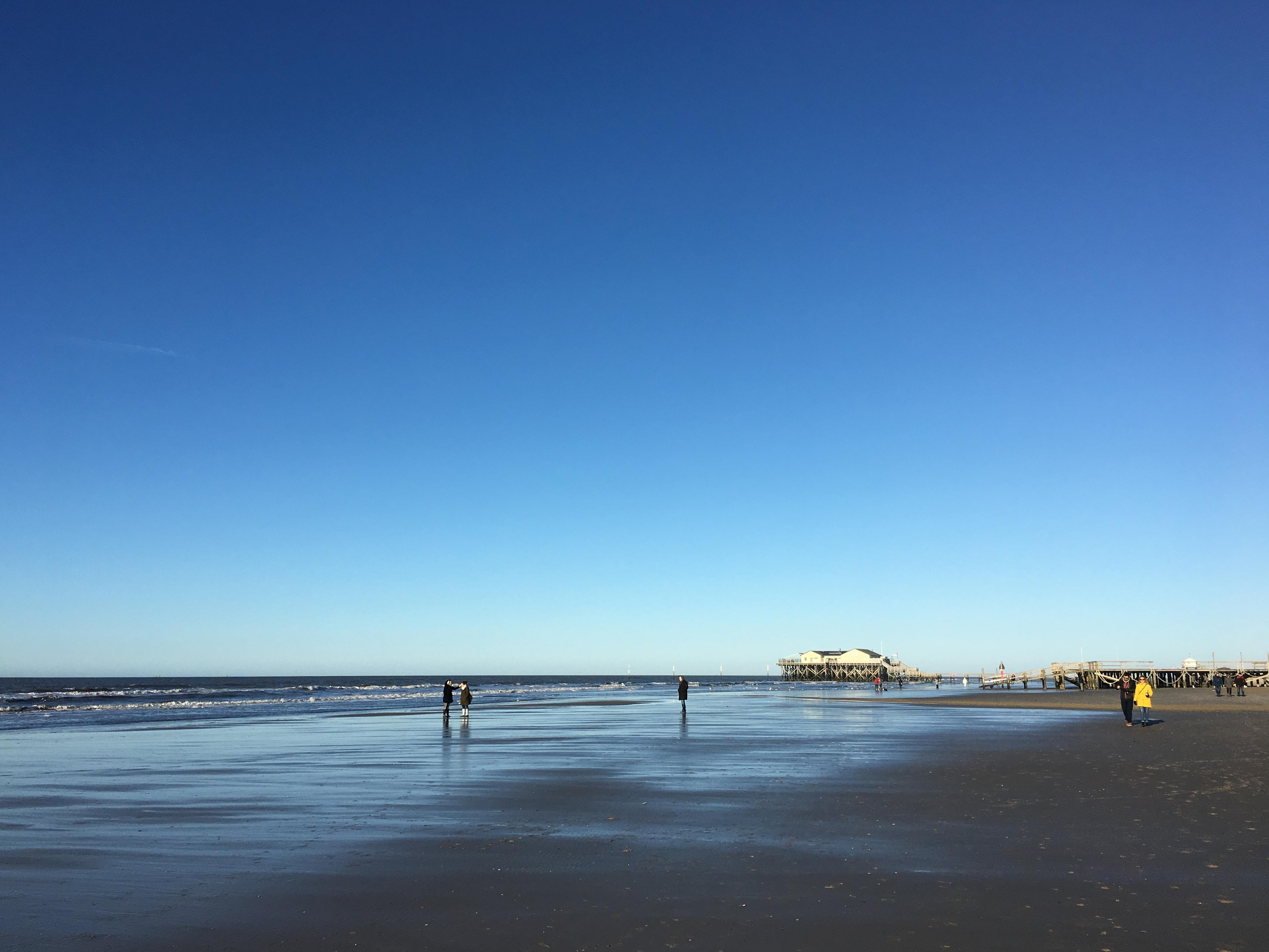 Strand St. Peter-Ording im November