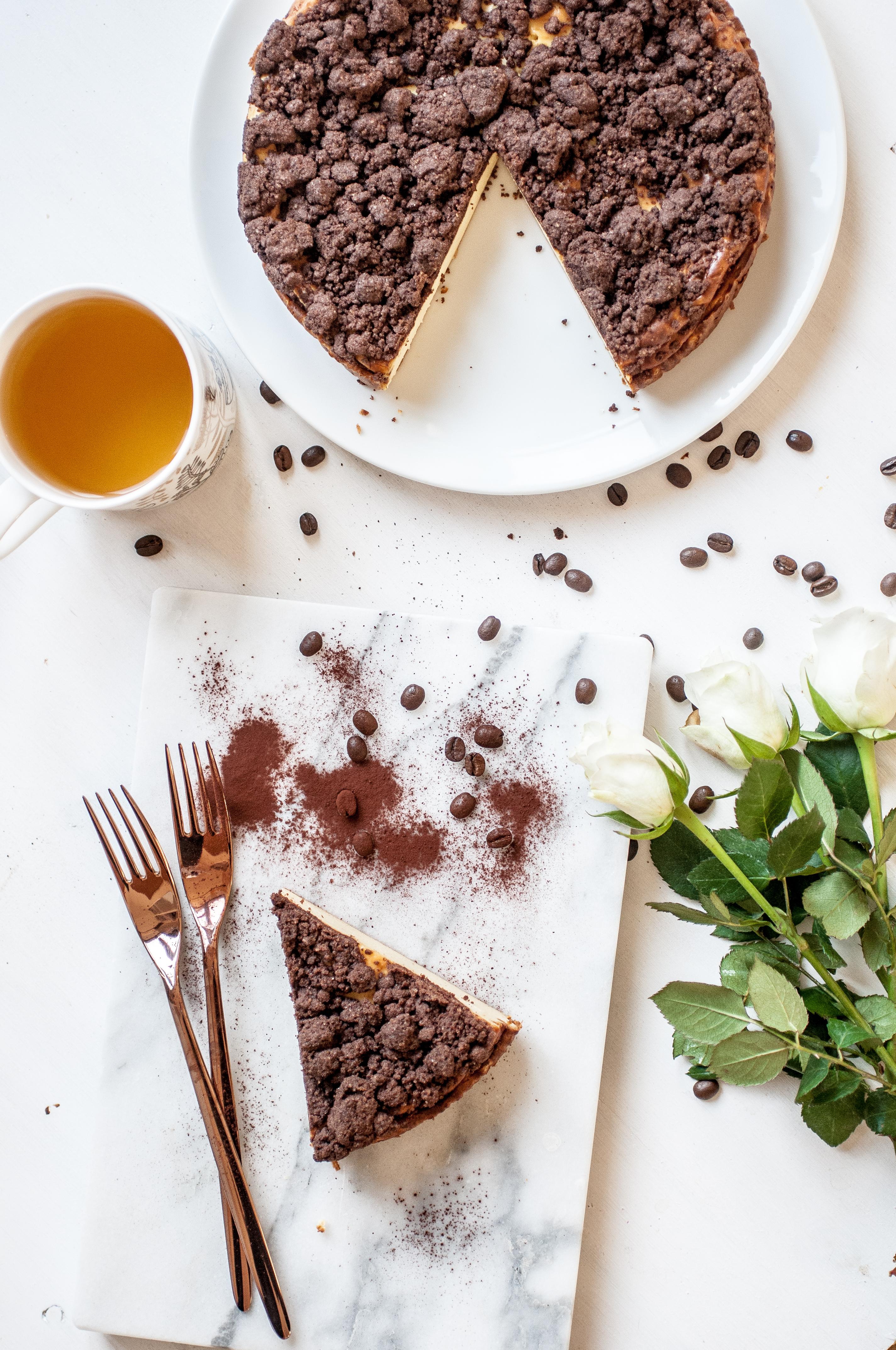 glutenfreier Quarkkuchen mit Streuseln