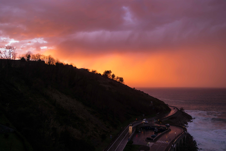 Sonnenuntergang Getaria Baskenland