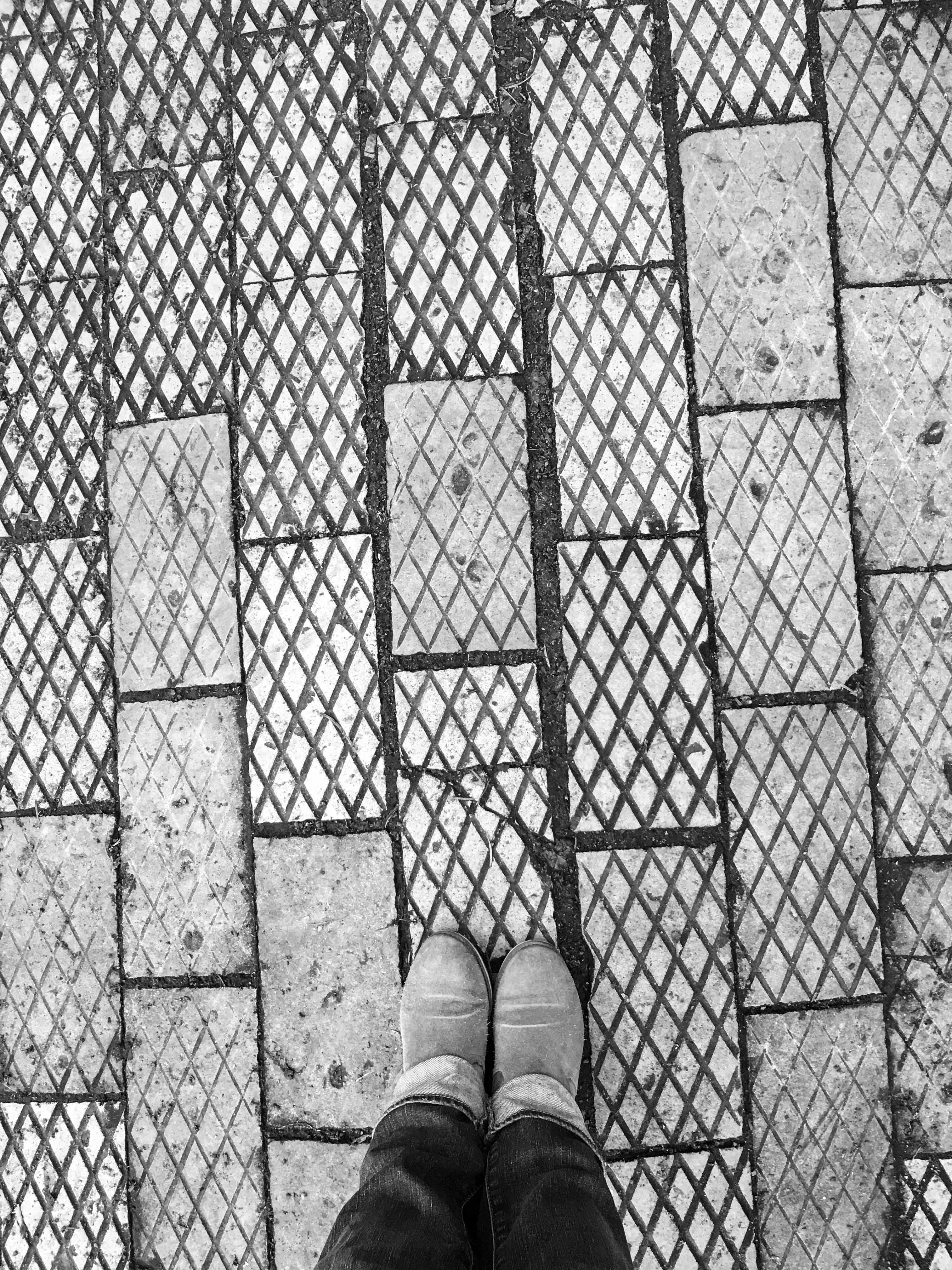alte Gehwegplatten