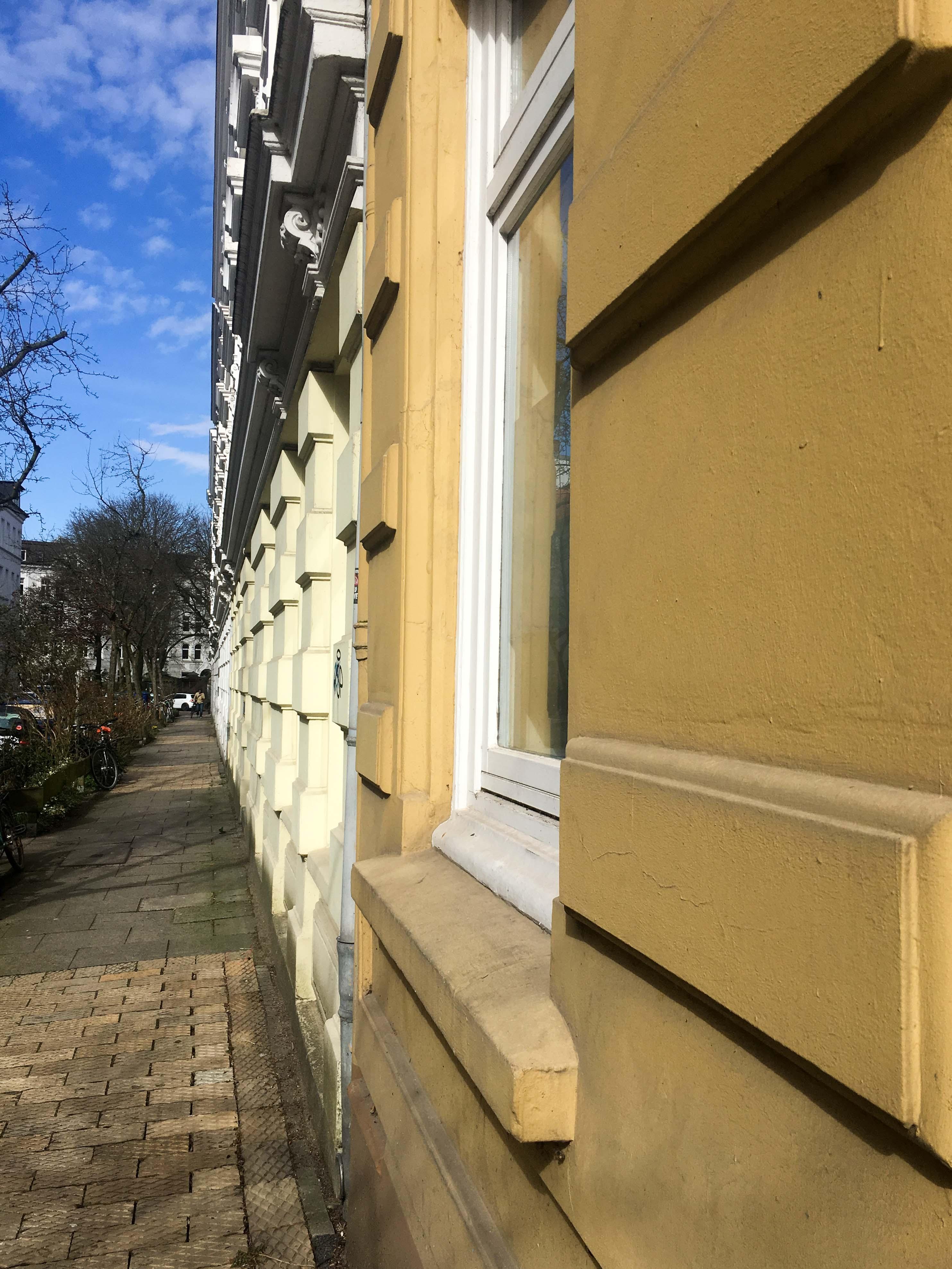 Häuserfront Fassaden