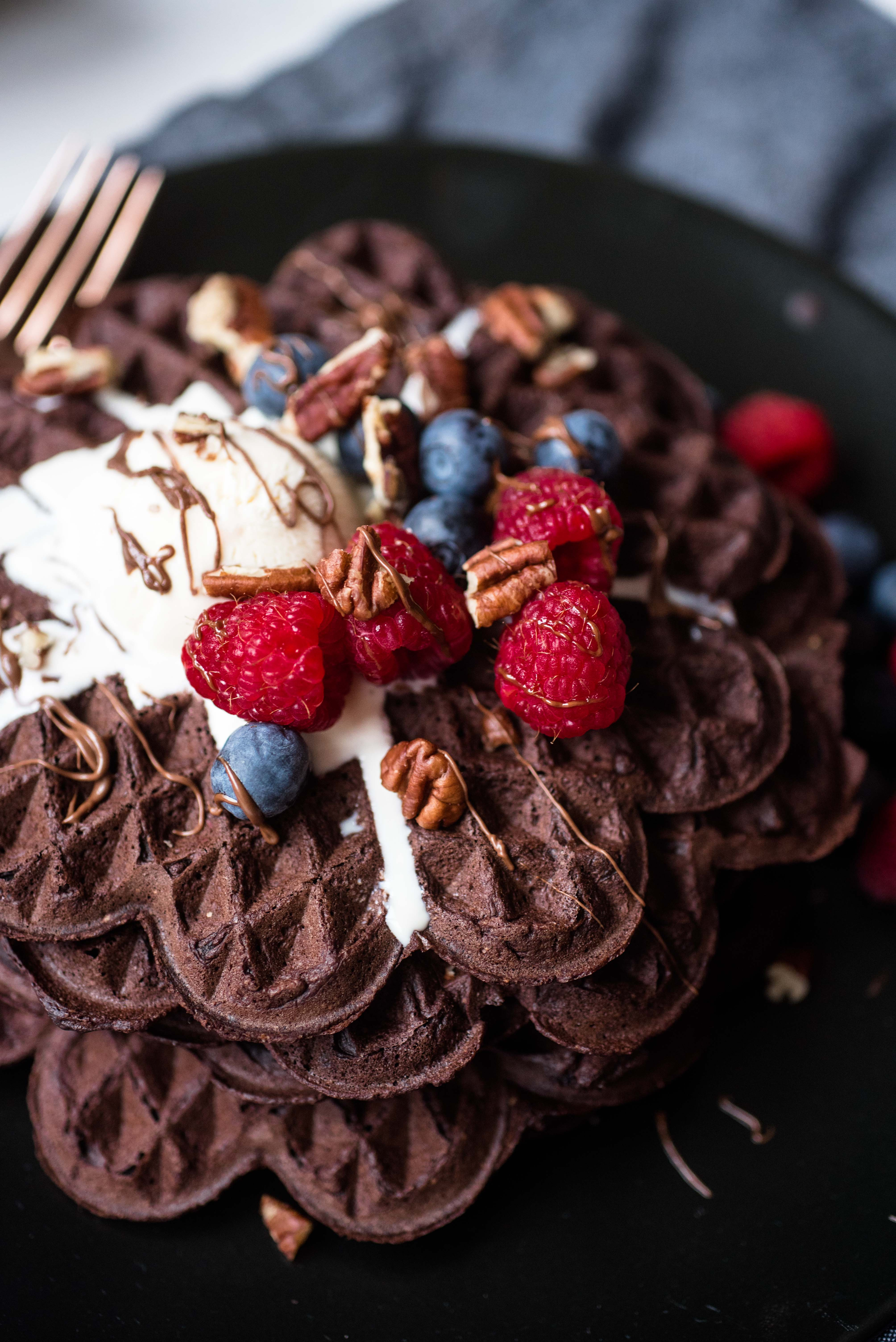 glutenfreie Schokoladenwaffeln