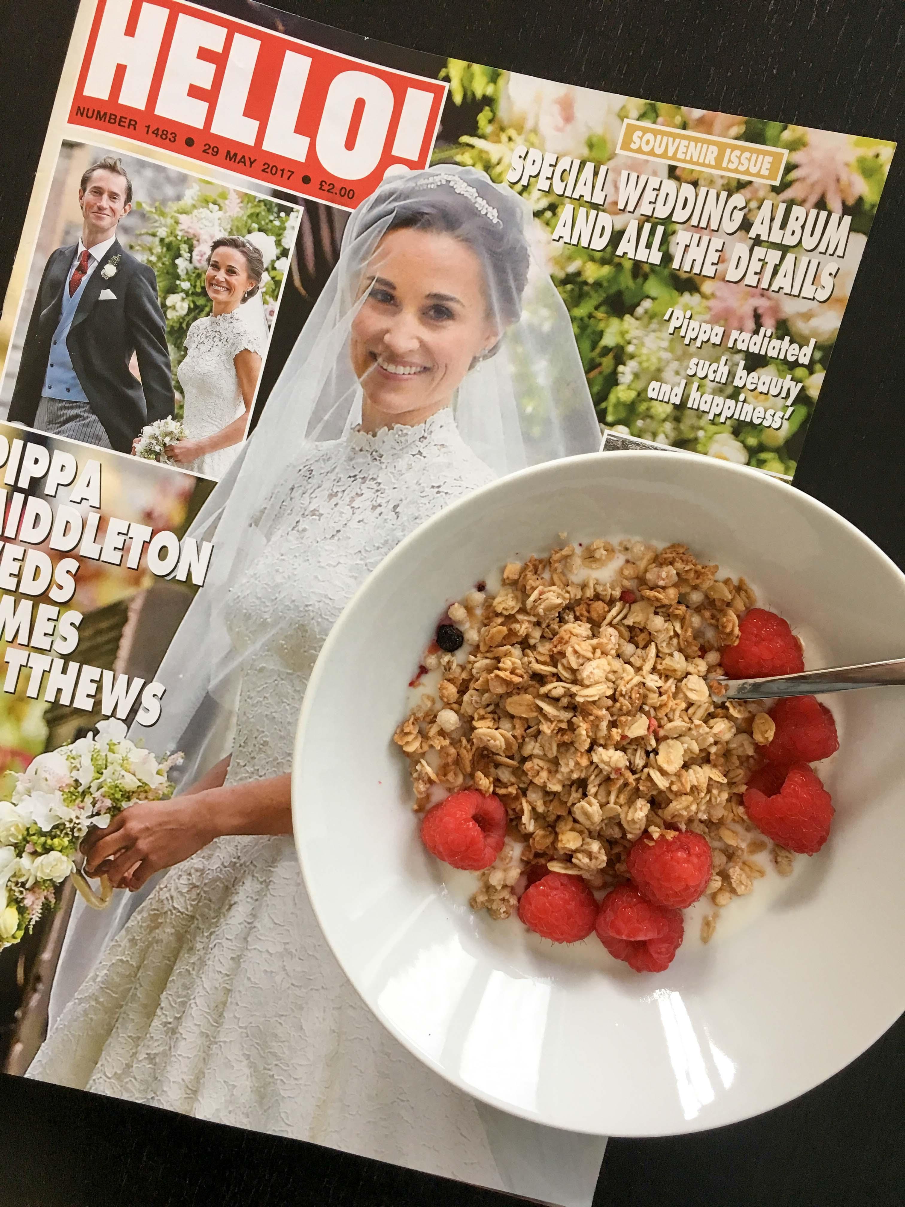Frühstück mit Hello Magazin